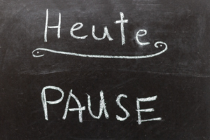Pause - Wortwahl