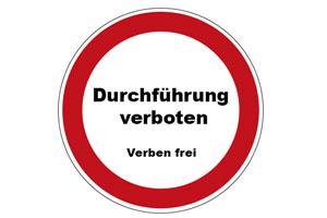 Durchführung verboten